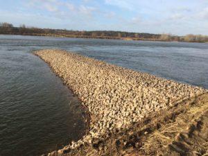 Remont ostrogi na rzece Wiśle - zakończenie robót